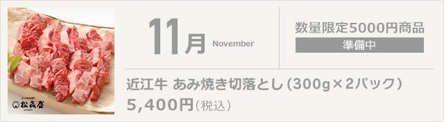 11月 近江牛 あみ焼き切落とし(350g×2パック)