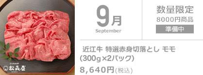 9月 近江牛 特選赤身切落とし(350g×2パック)